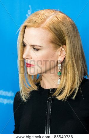 BERLIN, GERMANY - FEBRUARY 06: Actress Nicole Kidman  photocall 'Queen of the Desert'. 65th Film Festival at Hyatt Hotel on February 6, 2015 in Berlin, Germany.