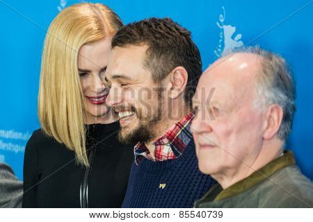 BERLIN, GERMANY - FEBRUARY 06: Nicole Kidman, Damian Lewis, James Franco, Werner Herzog, photocall 'Queen of the Desert'. 65th Film Festival at Hyatt Hotel on February 6, 2015 in Berlin, Germany.