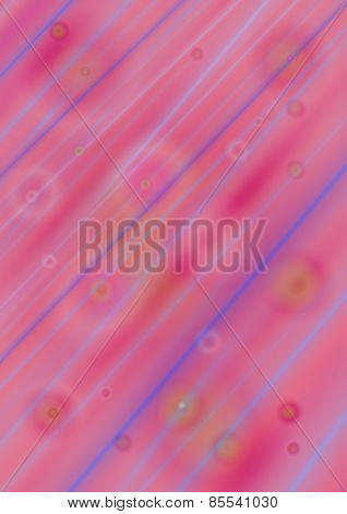 Bright  pink shades  background with colored circles covered  blue and purple stripes