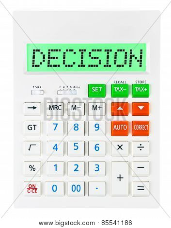 Calculator With Decision
