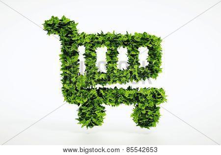 Eco Shopping Cart Sign