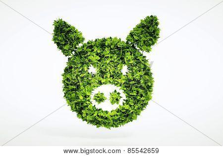 3D Bio Pork Sign.