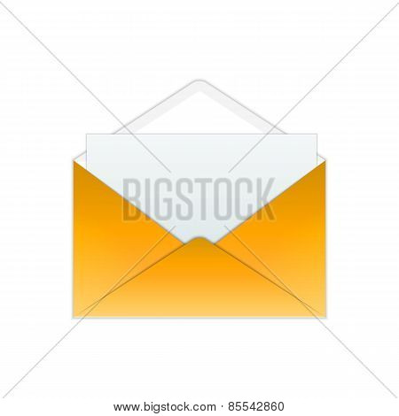 Gold Envelope And Paper