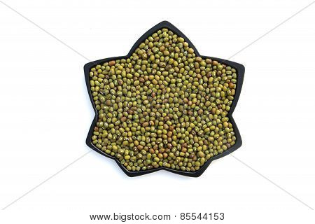 Mung Bean In Plate Shape Of Flower
