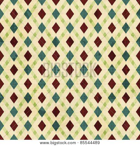 Vintage Rhombuses Seamless Pattern