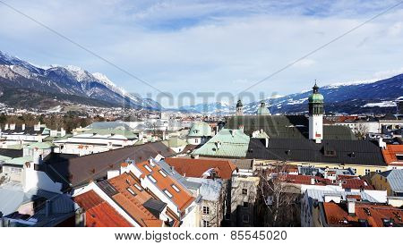 Viewpoints old town In Innsbruck
