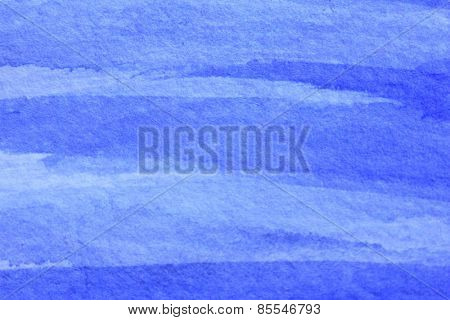 Cobalt Blue Hue Watercolor Background 12