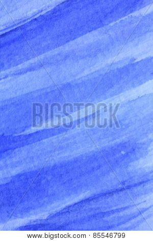 Cobalt Blue Hue Watercolor Background 1