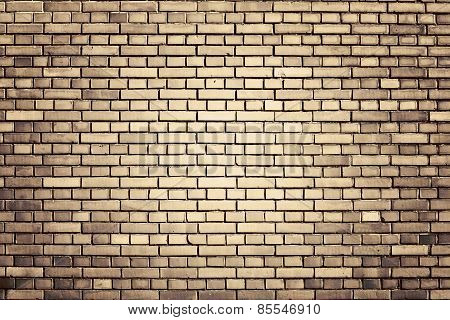 Brown Weathered Brick Wall Background