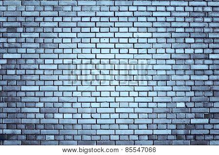 Blue Weathered Brick Wall Background