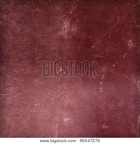 Dark red old leather texture for background