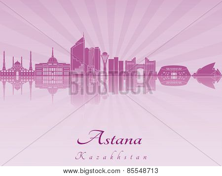 Astana Skyline In Purple Radiant Orchid