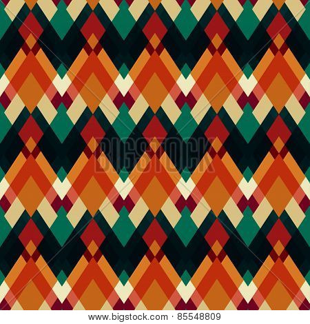 Vintage Triangle Seamless Pattern