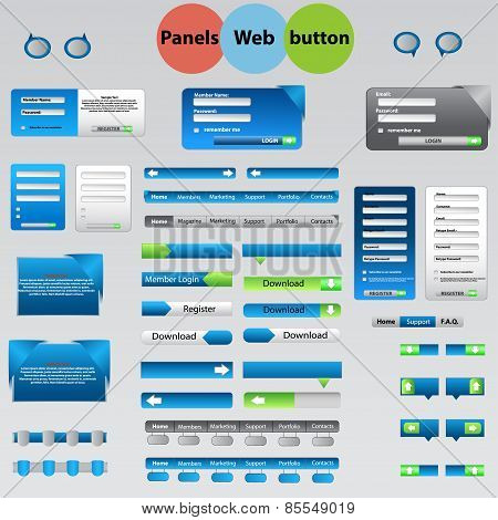 Large Set Of Web Panels, Buttons For Your Ideas