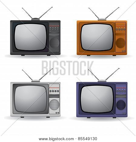 Set Of Vintage Televisions