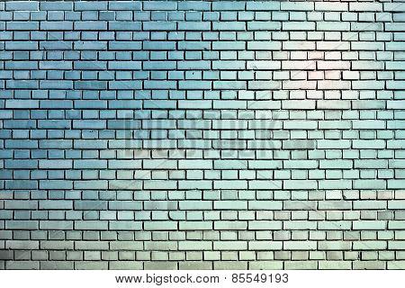 Light Blue Brick Wall Background