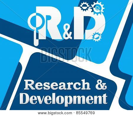R And D - Research And Development Blue Squares