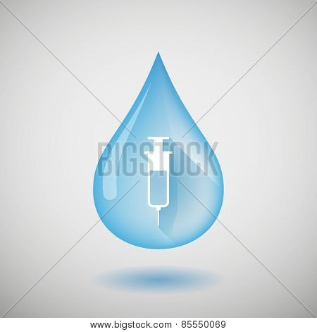 Water Drop With A Syringe