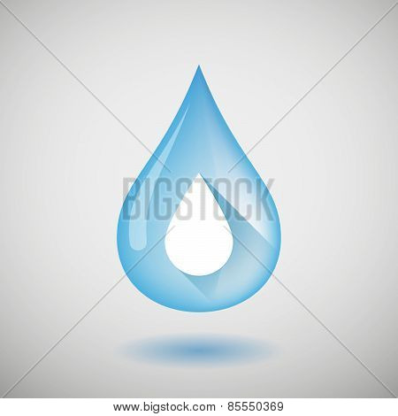 Water Drop With A Blood Drop