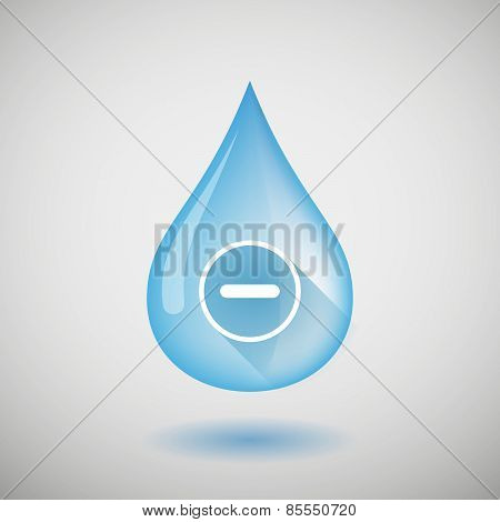 Water Drop With A Subtraction Sign