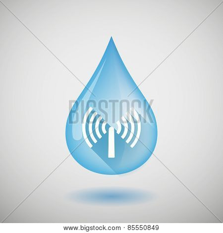 Water Drop With An Antenna