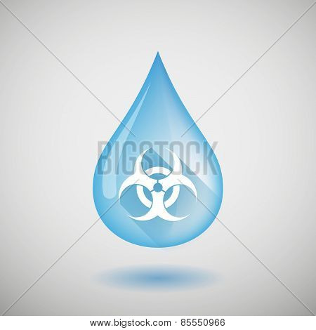 Water Drop With A Biohazard Sign