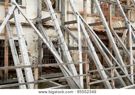 Scaffolding Covering an old building under restoration