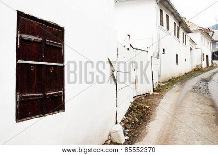 Architectural detail in Rosia Montana,Transylvania, Romania