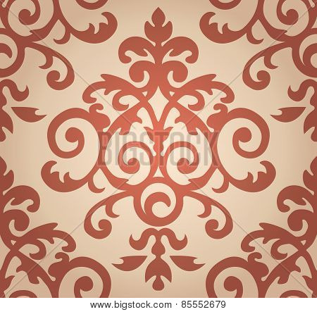 Damask  floral pattern. The wallpaper in Baroque style. Seamless background