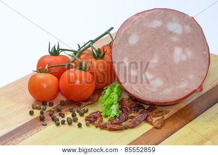 Mortadella Bologna And Vegetables