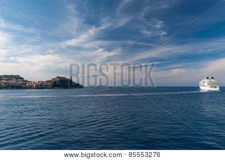 View of Elba island, Tuscany Italy
