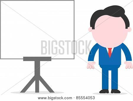 Businessman Beside Chart