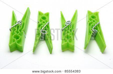 Green Plastic Pegs