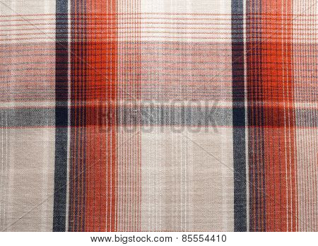 Fabric - Red and Blue Tartan