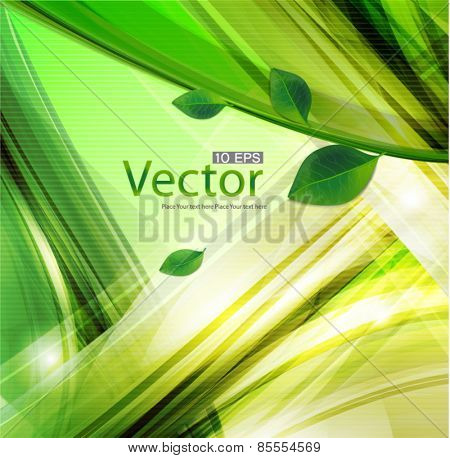 Vector spring background with lighting effect.