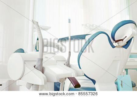 Closeup dental tools