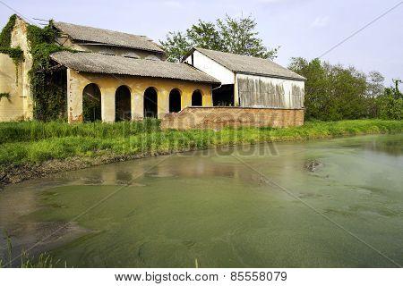 Abandoned farm. Color image