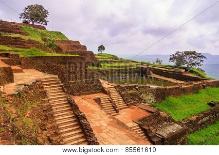 The Ancient Palace Of Sigiriya In Sri Lanka