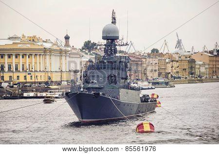 Battleship in St Petersburg