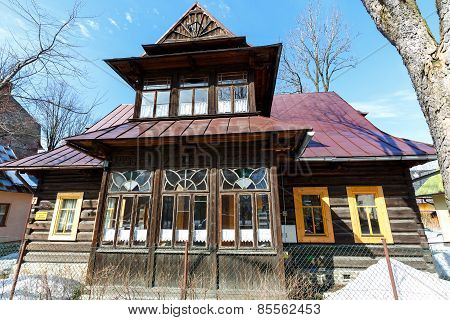 Made Of Wood The Residential Building In Zakopane