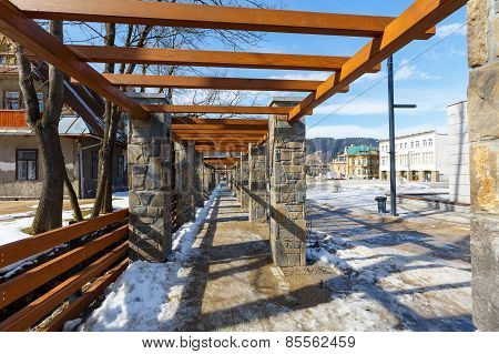 Pergola Made Of Stone In Zakopane