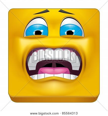 Square Emoticon Terrified