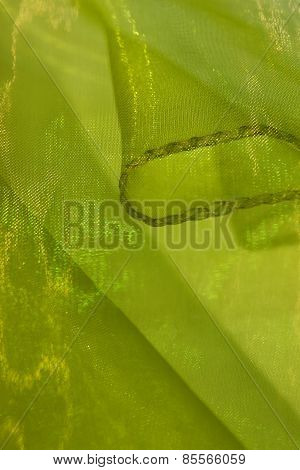 Light green shiny cloth