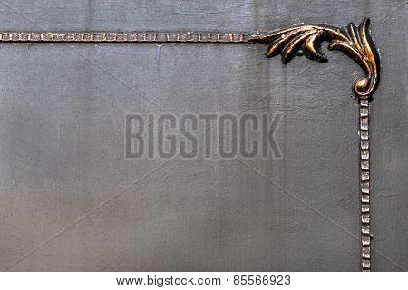 Brass Plate Texture, Old Metal Background. Bronze