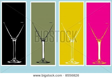 A Set Of Martini Glass Backgrounds