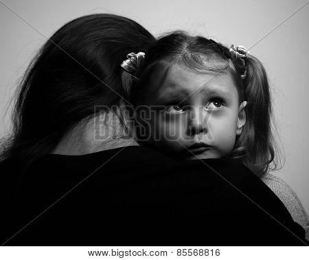 Close Between Loving Supporting Mother And Sad Daughter Looking With Hope