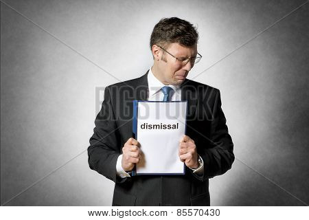 Frustrated Fired Business Man