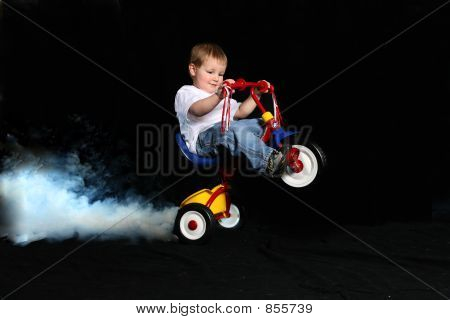 Wheelie on Tricycle