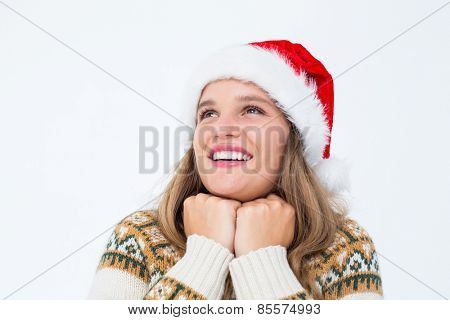 Smiling hipster on white background