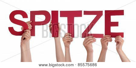 People Holding Straight German Word Spitze Means Super